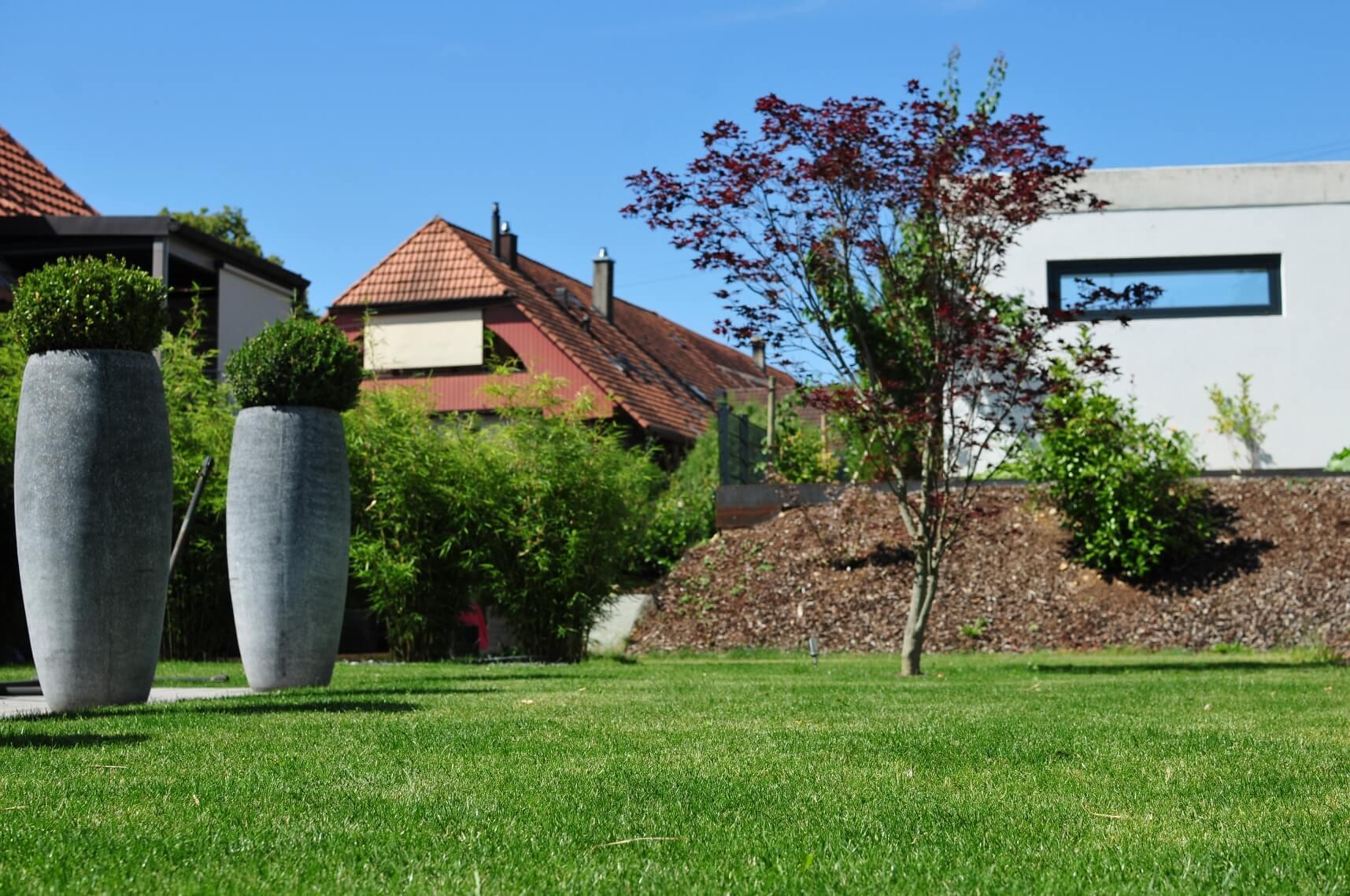 paysagiste aménagement terrasse en bois pots de fleurs bambou verdure elligue mickael (4)